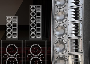 Line Array technology applied to cinema audio